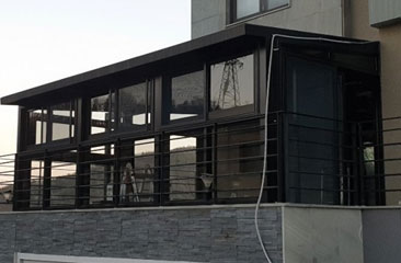 용인 갤러리스타일 썬룸, 유리온실 시공